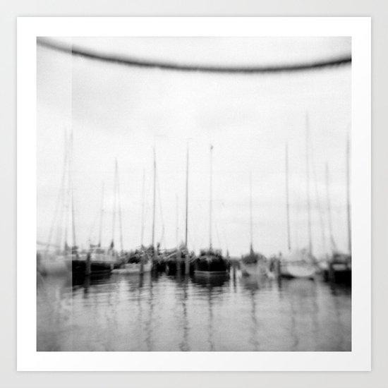 · Go sailing -Analogical Photography Black & White Art Print