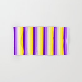 Complementary Color Harmony...yellow purple Hand & Bath Towel