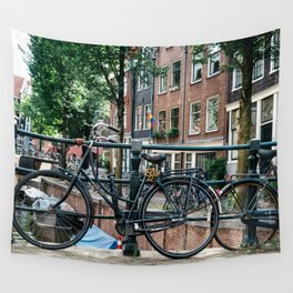 Bicycles in Amsterdam Wall Tapestry