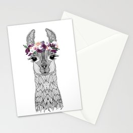 FLOWER GIRL ALPACA Stationery Cards