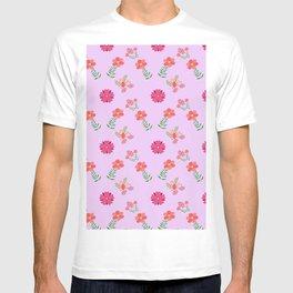 flowers rosas rose pink T-shirt