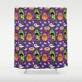 Greedy Monsters Shower Curtain