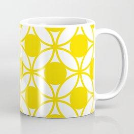 Geometric Floral Circles Summer Sun Shine Bright Yellow Coffee Mug