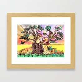 Drink the Wild Air by Rosemary Knowles, aka MaxillaMellifer Framed Art Print