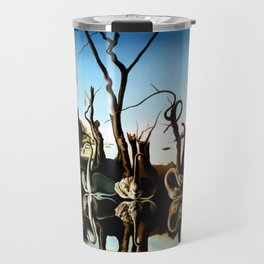 Salvador Dali Swans Reflecting Elephants 1937 Artwork for Wall Art, Prints, Posters, Tshirts, Men, Women, Kids Travel Mug