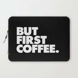 But First Coffee Typography Poster Black and White Office Decor Wake Up Espresso Bedroom Posters Laptop Sleeve