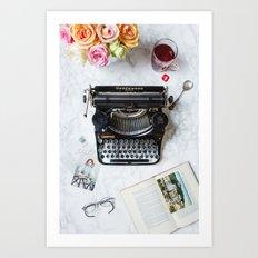Typewriter Love. Art Print