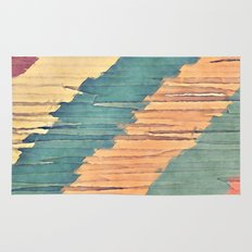Abstract Shredded Stripes Rug