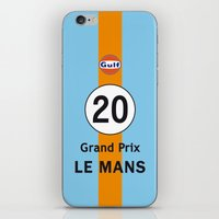 steve mcqueen iPhone & iPod Skins featuring Steve McQueen - Le Mans Grand Prix variation iPhone 4 5 6, ipod, ipad case Samsung Galaxy by Vintage Deco Print Posters