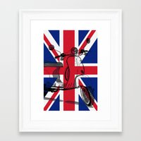 british flag Framed Art Prints featuring British Flag Scooter by Hello Tokyo Go Go