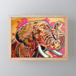 Pink Elephant Framed Mini Art Print