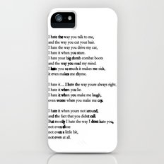 10 Things i Hate About You - Poem iPhone (5, 5s) Slim Case