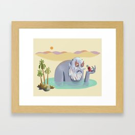 The Merchant and the Genie Framed Art Print
