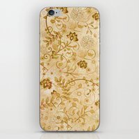 floral pattern iPhone & iPod Skins featuring Floral pattern by nicky2342