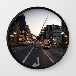city art new love walls night lights cars 2018 love vibe cute cities Wall Clock