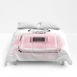 Pink perfume #3 Comforters