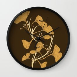 Gingko, Golden Life Wall Clock