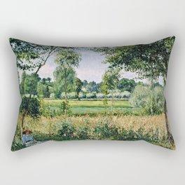 Camille Pissarro - Morning Sunlight Effect, Eragny Rectangular Pillow
