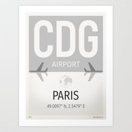 CDG airport Paris Art Print