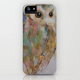 Owl Painting iPhone Case