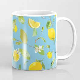 Watercolor Lemon & Leaves 9 Coffee Mug