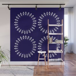 08WA012 Warli Art / Art by Amiee / Painting / Sweet Home / Artist Amiee Wall Mural