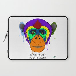 Be yourself, be different - chimpanzee Laptop Sleeve