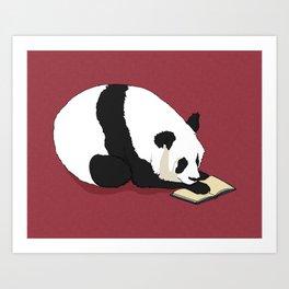 Reading Panda Art Print