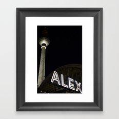Alex and Berlin Framed Art Print