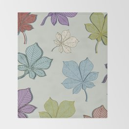 Flying leaves Throw Blanket