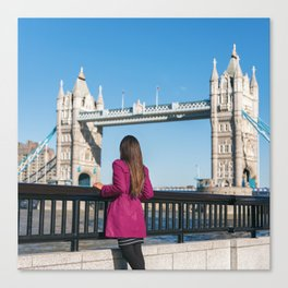 Woman in London Canvas Print