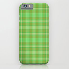 St. Patrick's Day Plaid iPhone Case