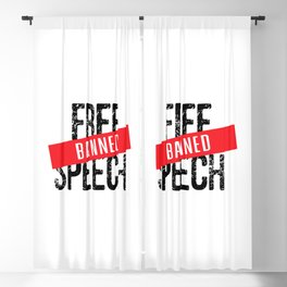 Free Speech Banned Blackout Curtain