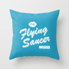 The Flying Saucer Throw Pillow
