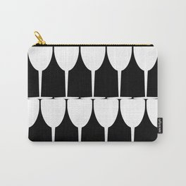 Vino - White on Black Carry-All Pouch