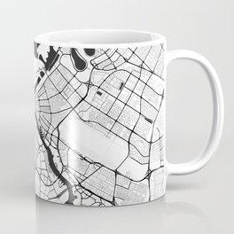Dubai City Map Gray Coffee Mug