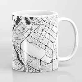 Dubai City Map Gray Coffee Mug