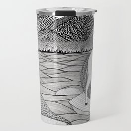 A Meeting by the Water--B&W Travel Mug