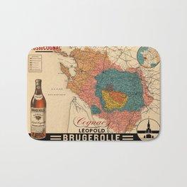 Map Of Cognac 1928 Bath Mat