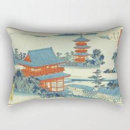 Hiroshige II - Kinryuzan Temple in Asakusa Rectangular Pillow