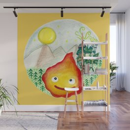 Howl's Moving Castle - Calcifer Wall Mural