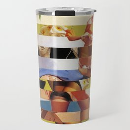 Glitch Pin-Up Redux: Farrah Travel Mug