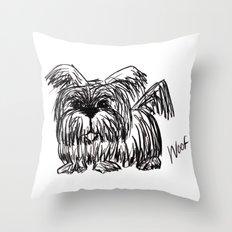 Woof :: A Dust Mop Dog Throw Pillow