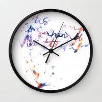 bjork Wall Clocks featuring Bjork by Bezmo Designs