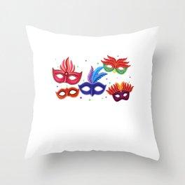 Carnival Mask Mardi Gras Street Party Gift Throw Pillow