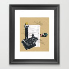 Serial No. A26, a collage about rebels Framed Art Print