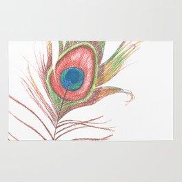 Peacock Bird Feather Art Rug