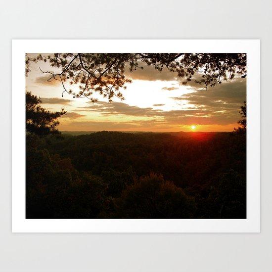 Mountain Tops Art Print
