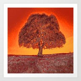 The Tree. Silence. Warmth. Quietude. Art Print