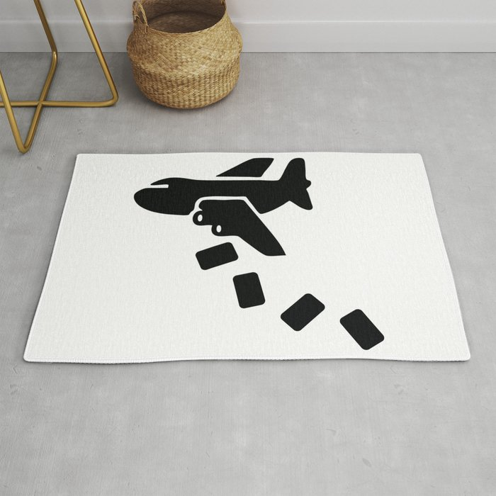 Cargo Airplane Supply Drop Rug By